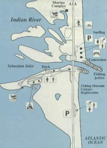 Map Of Sebastian Florida.Sebastian Inlet State Recreation Area Melbourne Beach Fl